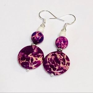 Purple Sea Sediment Jasper Earrings